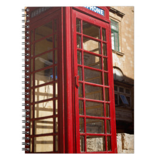 The red Telephonebox Notebook
