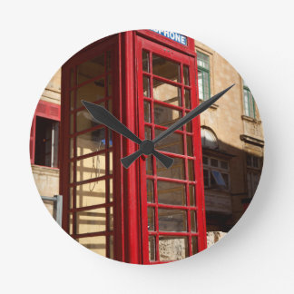 The red Telephonebox Round Clock