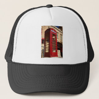 The red Telephonebox Trucker Hat