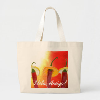 The Red, The Hot, The Chili Large Tote Bag