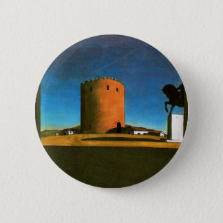 The red tower by Giorgio de Chirico 1913 2 Inch Round Button