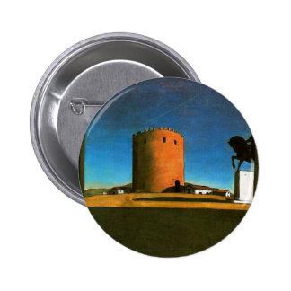 The red tower by Giorgio de Chirico 1913 2 Inch Round Button