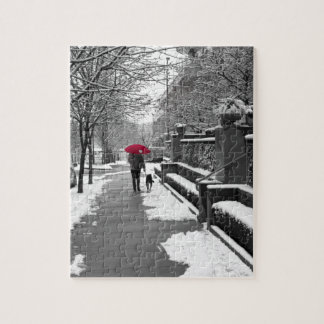 The Red Umbrella Jigsaw Puzzle