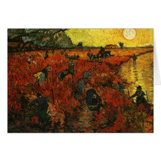 The Red Vineyard at Arles Card