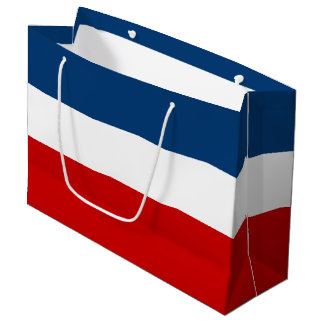 The Red White and Blue Gift Bag - Large, Glossy