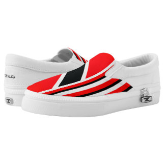 The Red White Black (cust.) Slip-On Sneakers