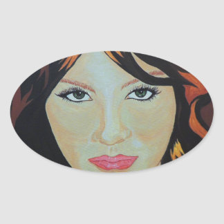 THE RED WITCH OVAL STICKER