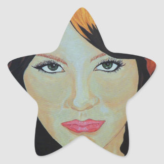 THE RED WITCH STAR STICKER