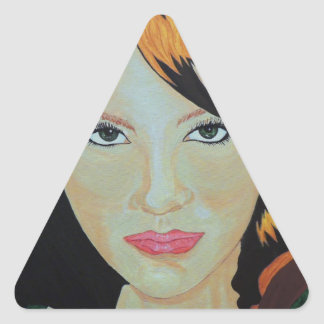THE RED WITCH TRIANGLE STICKER