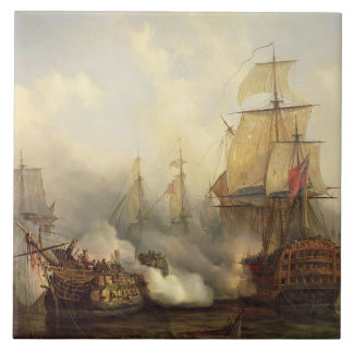 The Redoutable at Trafalgar, 21st October 1805 Tile