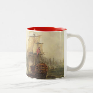 The Redoutable at Trafalgar, 21st October 1805 Two-Tone Coffee Mug