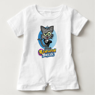 The Reduced Break Crazy Cat! Baby Romper