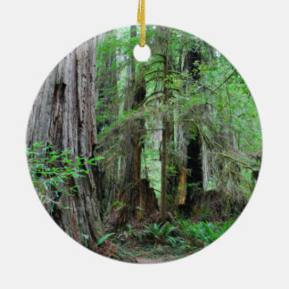 The Redwoods - Sequoia Round Ceramic Ornament