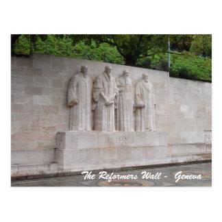 The Reformers Wall -  Geneva Postcard
