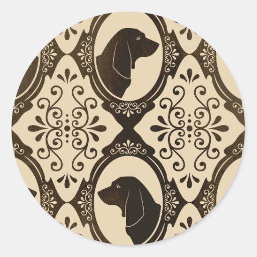 The Regal Basset Hound Round Sticker