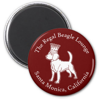 The Regal Beagle Lounge 2 Inch Round Magnet