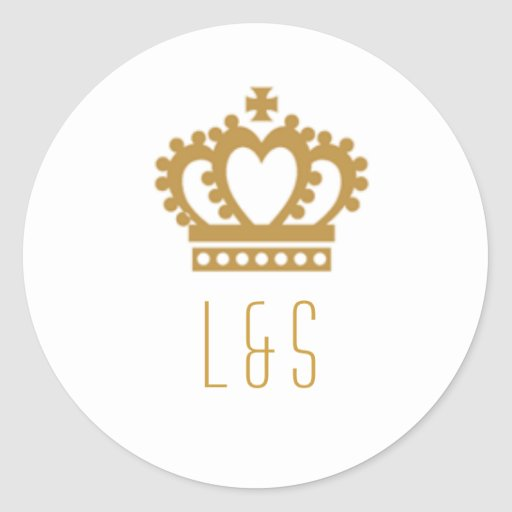 The Regal Love Round Stickers