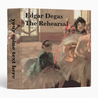 The Rehearsal by Edgar Degas, Vintage Ballet Art 3 Ring Binder