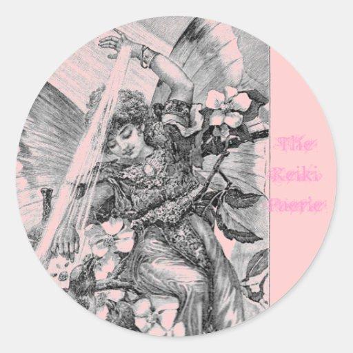 The Reiki Faerie Round Sticker