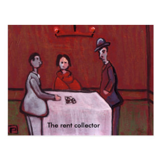 The rent collector postcard