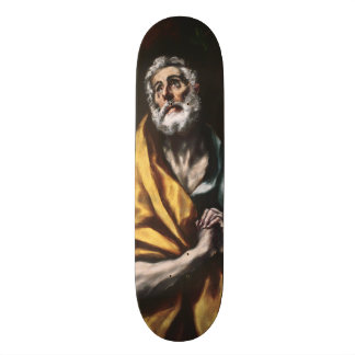 The Repentant Saint Peter by El Greco Skate Board