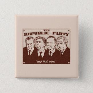 The Republic Party 2 Inch Square Button