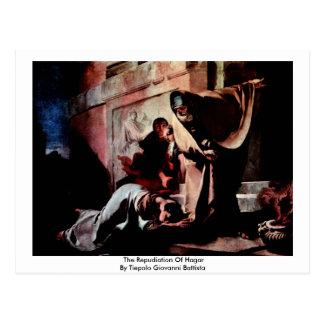 The Repudiation Of Hagar Postcard