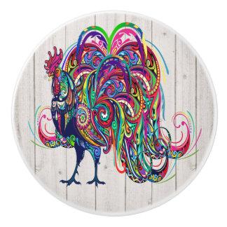 The Resplendent Rooster Drawer / Cabinet Knobs Ceramic Knob