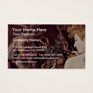 The Rest On The Flight Into Egypt  By Michelangelo Business Card