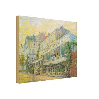 The Restaurant de la Sirene at Asnieres - van Gogh Canvas Print