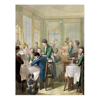 The Restaurant in the Palais Royal, 1831 Postcard