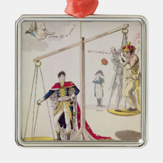 The Result of the Day of the Three Emperors Silver-Colored Square Ornament