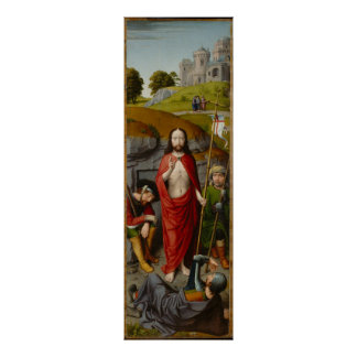 The Resurrection, with the Pilgrims of Emmaus Poster