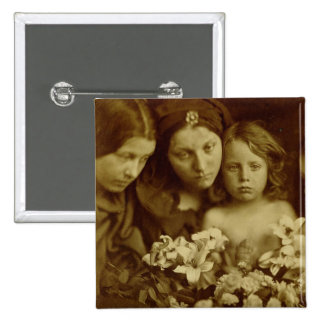The Return after Three Days, c.1865 (sepia photo) 2 Inch Square Button