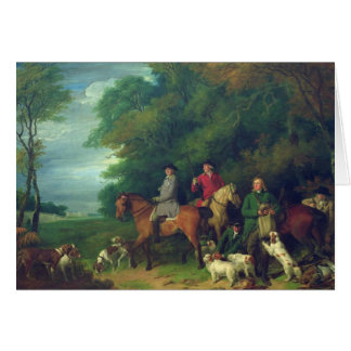The Return from Shooting, 18th century Card