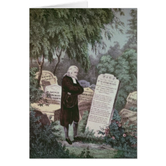 The Rev. John Wesley visiting his mother's grave Card