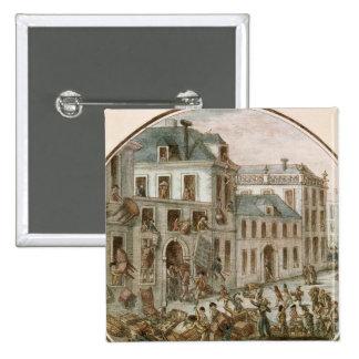 The Reveillon Riot of April, 1789 2 Inch Square Button