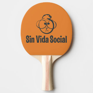 The reverse Gafotas Shovel black rubber Ping Pong Paddle