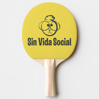 The reverse Gafotas Shovel red rubber Ping Pong Paddle