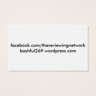 The Reviewing Network Business Cards