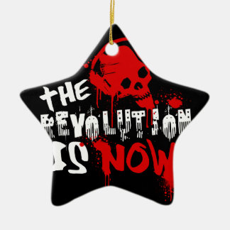 The Revolution Is Now Ceramic Star Ornament