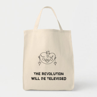 The Revolution Will ask Televised Tote Bag