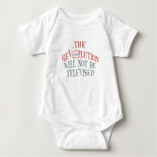 The revolution will not be televised baby bodysuit