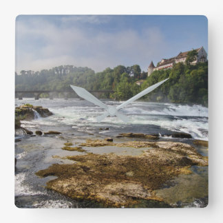 The Rhine Falls Square Wall Clock