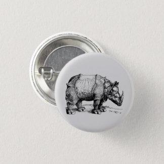 The Rhinoceros 1 Inch Round Button