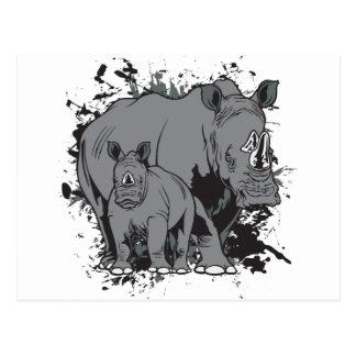 The Rhinos Postcard