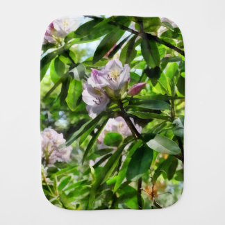 The Rhododendrons Are In Bloom Burp Cloth