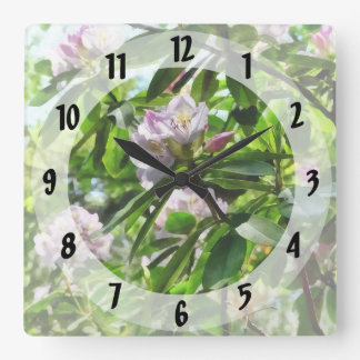 The Rhododendrons Are In Bloom Square Wall Clock