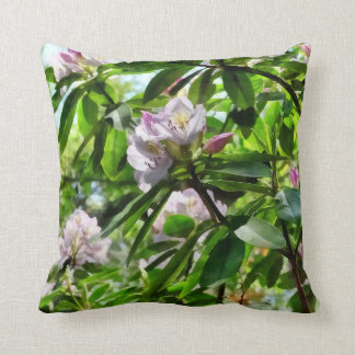 The Rhododendrons Are In Bloom Throw Pillow