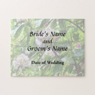 The Rhododendrons Are In Bloom Wedding Products Jigsaw Puzzle